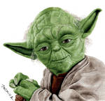 Colored Pencil Drawing of Yoda