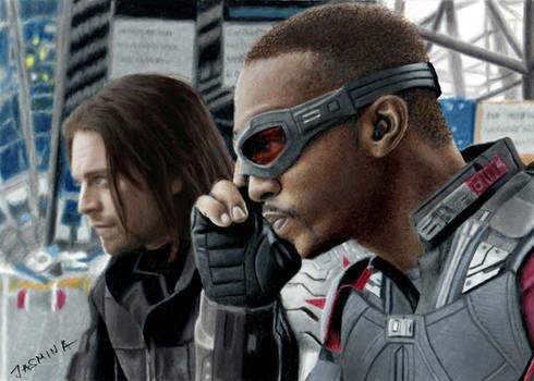 Drawing the Winter Soldier and the Falcon