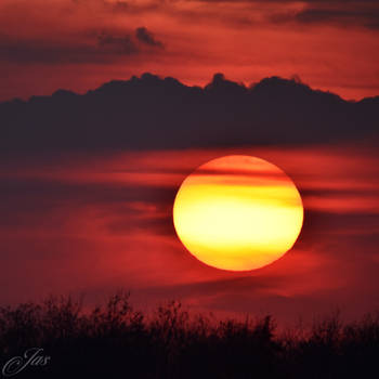 Sunset in Debrecen