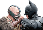 Colored pencil drawing: Batman vs Bane