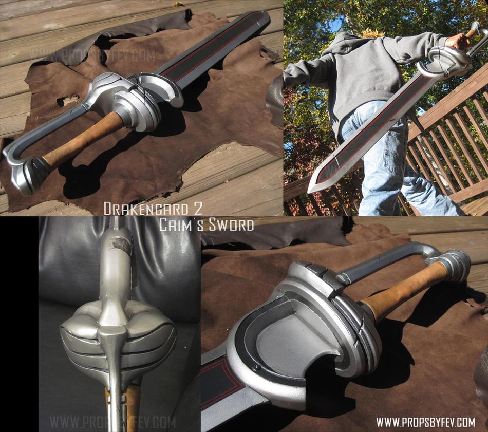 Drakengard 2- Caim's sword by fevereon