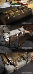 Ezio cosplay-left bracer wip by fevereon