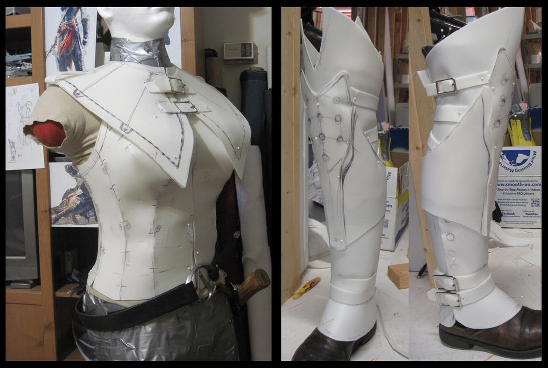 AC3: Liberation- Avelines costume mockup by fevereon
