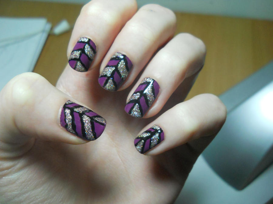 Abstract Colorblock Nail Art by evaogo on DeviantArt
