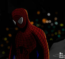 Spider-man in Night.