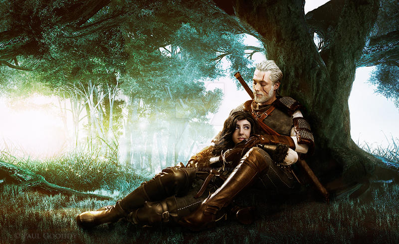 Geralt and Yennefer - An Intimate Moment by supremeoutcast