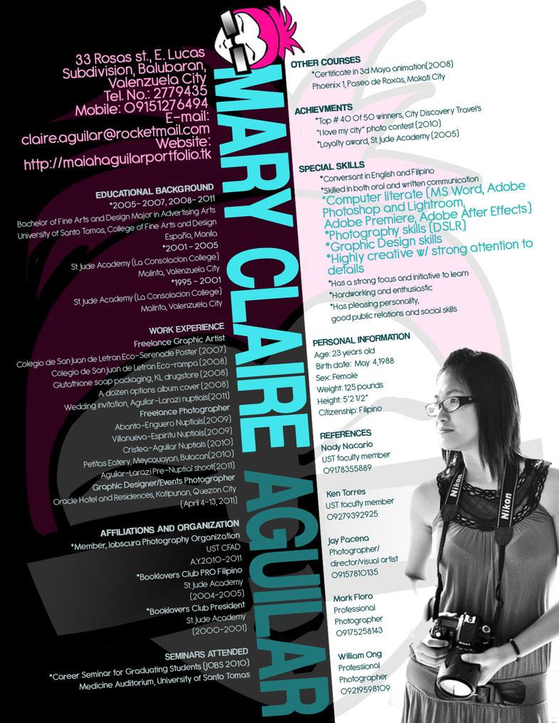 my creative resume by saquilarketipul on deviantart