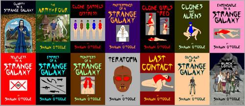 STRANGE GALAXY fourteen covers