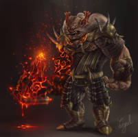 Monster warrior : concept art by SanjulWhiteShadow