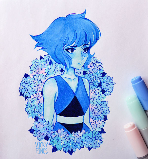 Done with copic markers (: