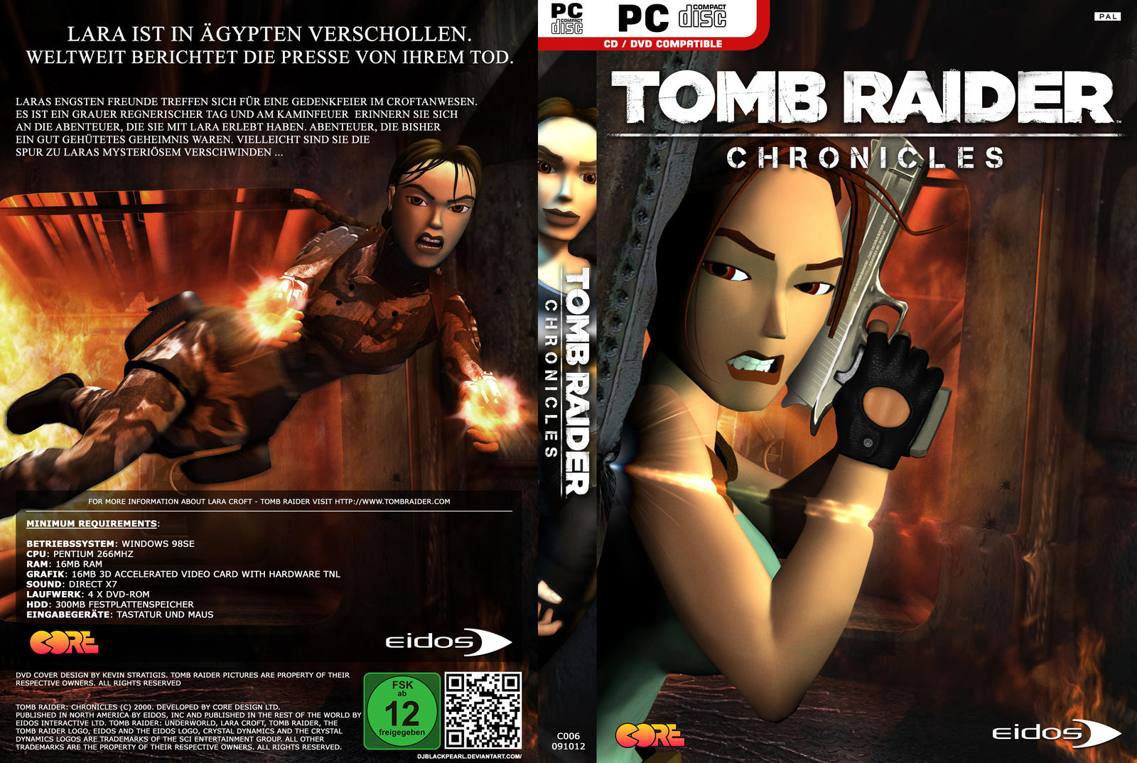 Tomb Raider: Chronicles - HQ Custom DVD Cover GER by ...
