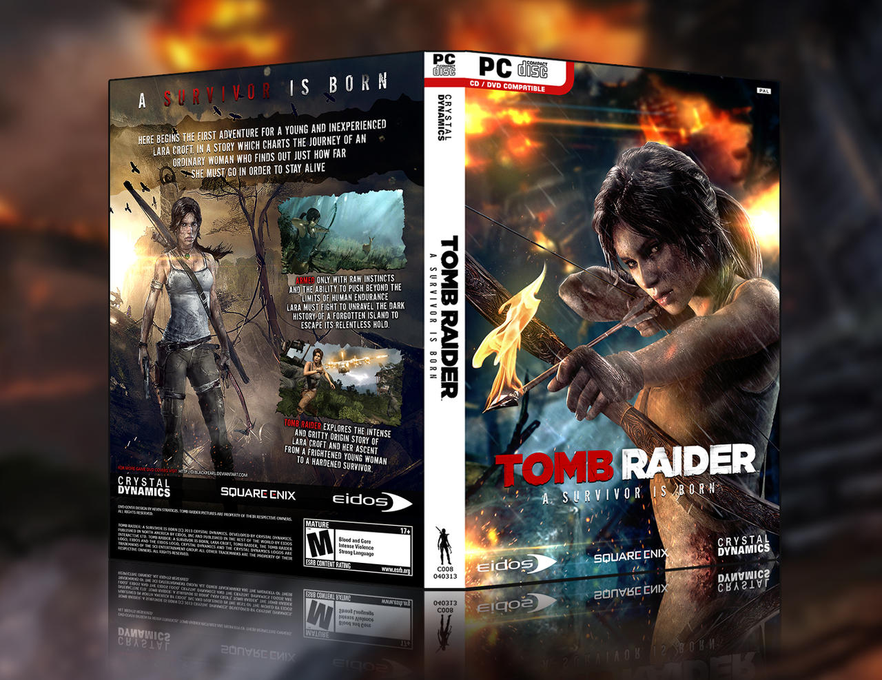 Tomb Raider: A Survivor Is Born - HD Custom Cover by Djblackpearl