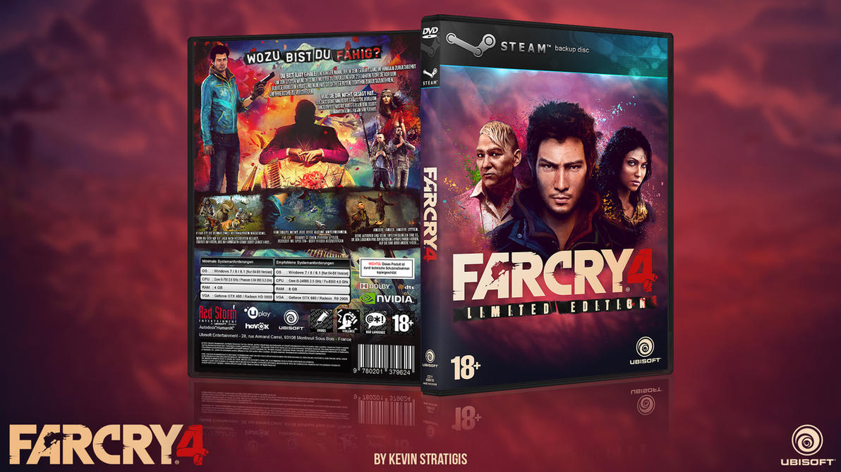 Far Cry 4 Custom PC Steam back Up DVD Cover German by Djblackpearl