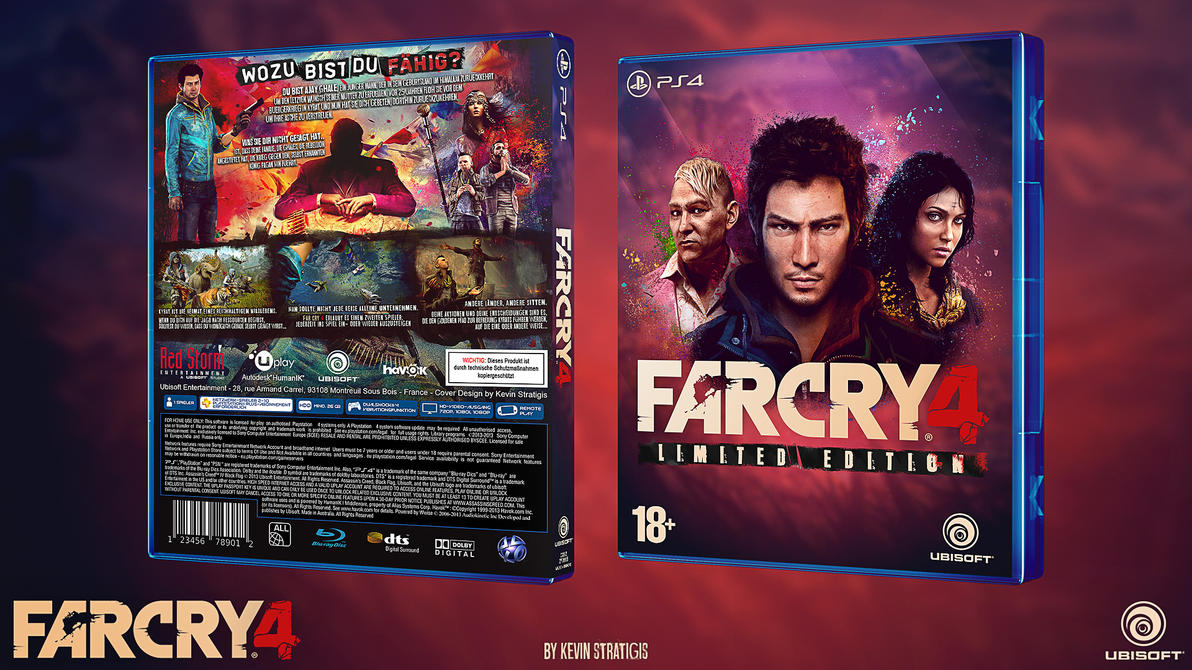 Far Cry 4 Custom Ps4 Cover German by Djblackpearl