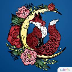 Crescent Moon and Fox