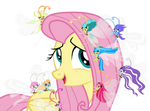 Fluttershy and breezies (vector)