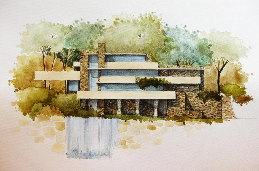 Fallingwater house by blueberry kid on deviantart - La maison sur la cascade ...