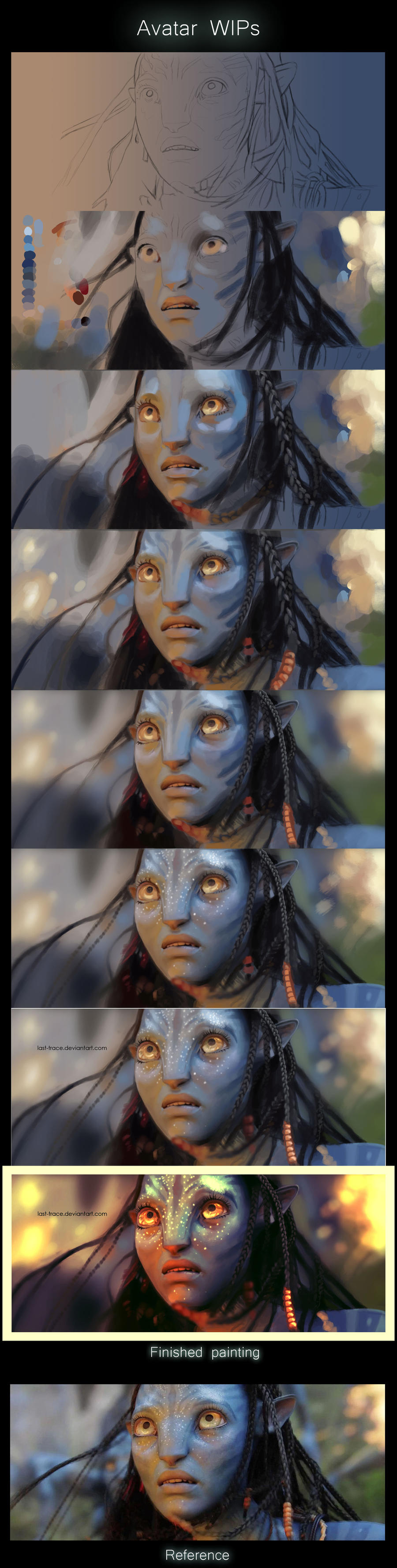 Avatar Neytiri wip stages by last-trace
