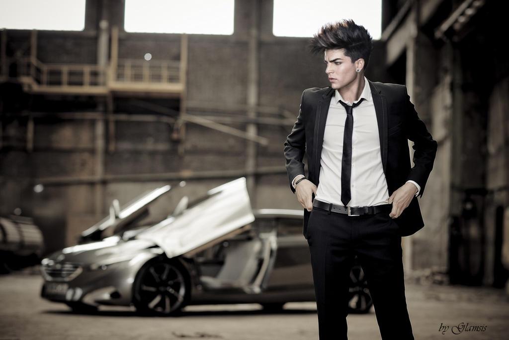 Adam Lambert And Tommy Joe Ratliff 2013 Adam Lambert    by car by