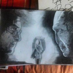 Harry Potter vs Voldemort by susiesdream