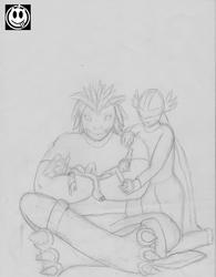 [sketch] Digimon Nap Time Courage Light