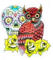 Coloured Owl Design by RandoM-CommentarY