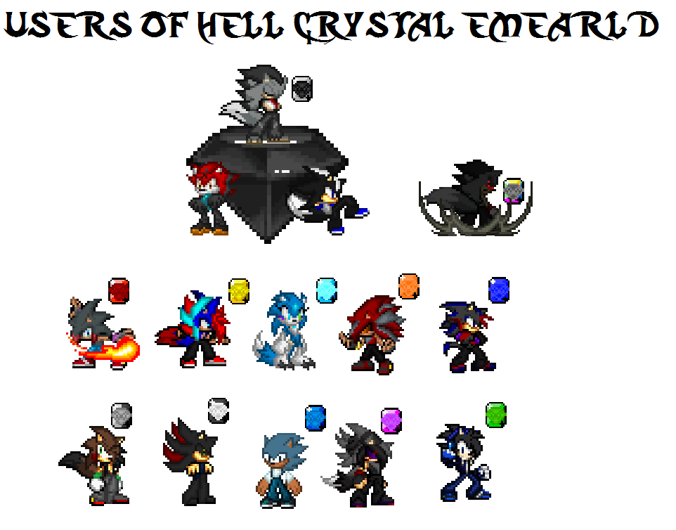 Users of Hell Crystal Emeralds by AquaDragonic