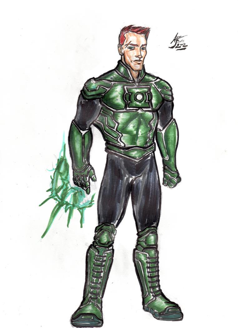 Guy Gardner - Green Lantern Redesign by drwcomics