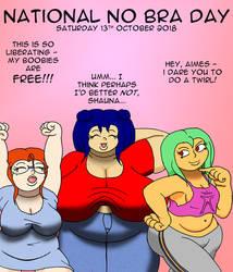 Amy, May, and Shauna - National No-Bra Day