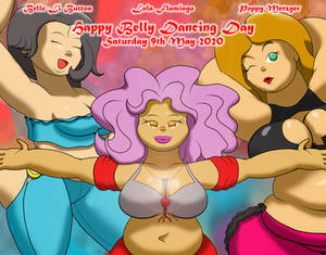 Belle-Li, Lola, and Poppy celebrate Belly Dancing