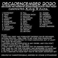 Decadencember 2020 Prompts