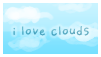 I Love Clouds Stamp by zara-leventhal