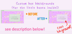 How To: Little box background in Custom Boxes