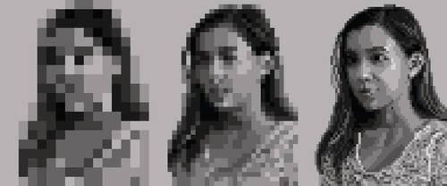 Pixelated Self Portrait by zara-leventhal