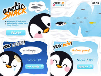 Arctic Snack Game Screens by zara-leventhal