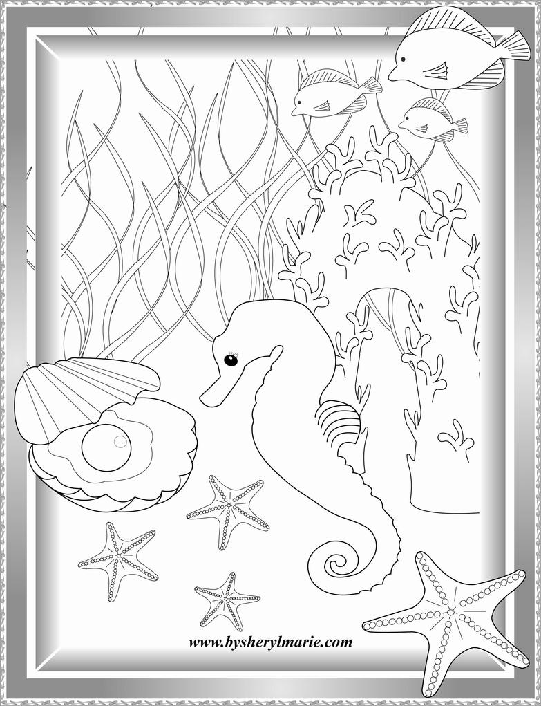 Seahorse coloring page by SherylMarie on DeviantArt