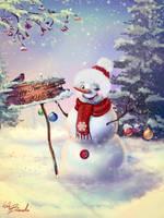 Christmas card by Web-brunetka