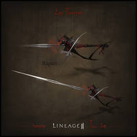 Weapon set concept Lineage II. Rapier