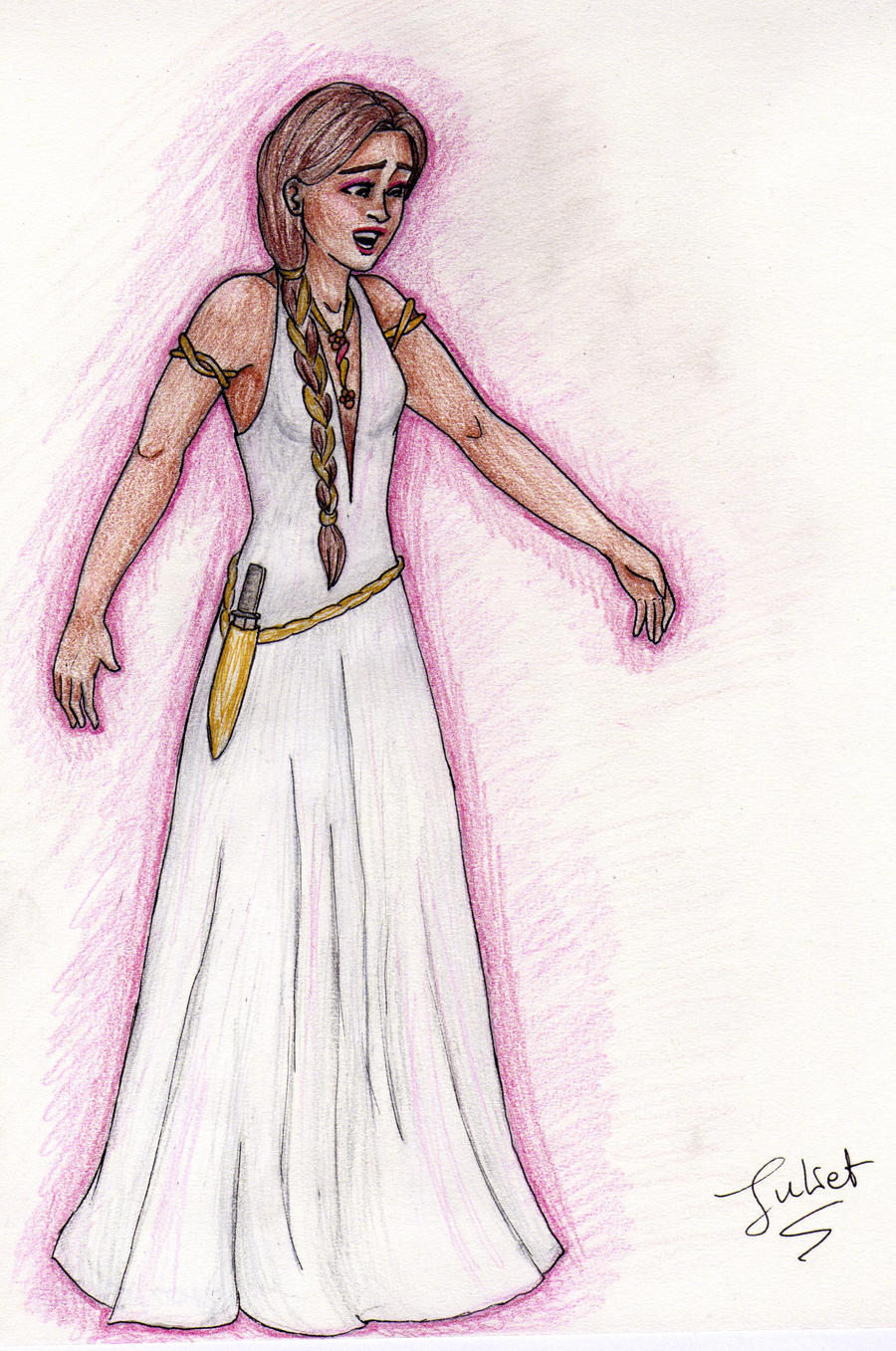 Daughter Of Aphrodite By Tonksgiuly Fan Art Traditional Drawings