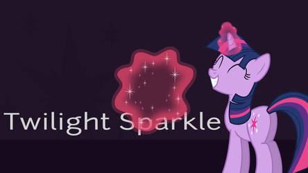 Minimalist Twilight Sparkle Lock Screen by Pathogen-David