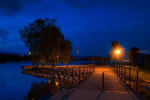 River Rhine by Night