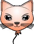 Cat-baloon Peach Small by mondspeer