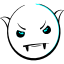Vampire Smiley (emotee) by mondspeer