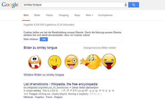My Tongue Smiley made it Top 5 in Google