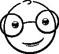 Nerd Smiley (emotee) by mondspeer
