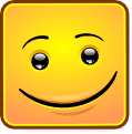 Square Smiley - Happy (emotee) by mondspeer