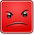 Square Smiley - Angry (emotee) by mondspeer