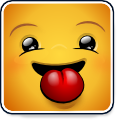 Square Smiley - Sticking Tongue (emotee) by mondspeer