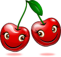 Smiling Objects - Cherries (emotee) by mondspeer