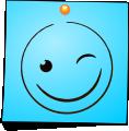 Post-It Smiley: Blink (emotee) by mondspeer